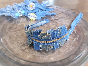 vintage denim headband chain <HB-DmCh>