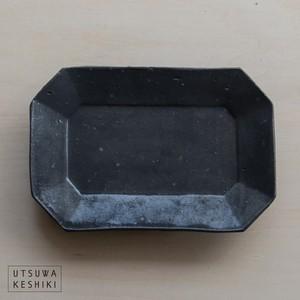 [加藤 祥孝] 7.5寸八角長皿/鉄釉