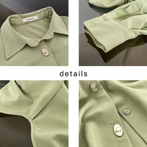 カラービックオーバーサイズシャツ LUM9518