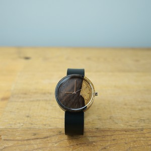 シャムガキ Ebony wood - Japanese leather - L