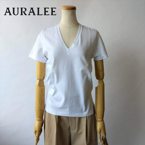AURALEE/オーラリー・Seamless V-neck tee