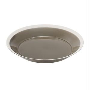 yumiko iihoshi porcelain(ユミコイイホシポーセリン)×木村硝子店 dishes 220 plate (fawn brown) プレート 皿 22cm 日本製 255558