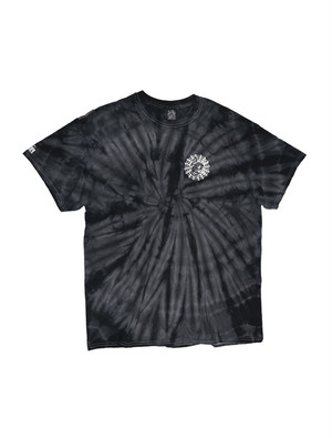 CAT WEB TIE DYE TEE black