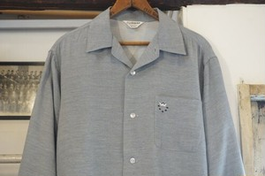 late 50's CLUBMAN savoy satin silver Shirt