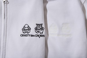 CRASTYdesCROWN ZIP UP HOODY