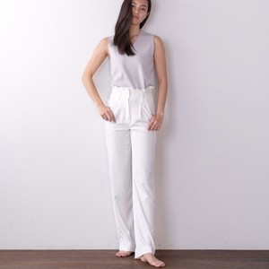 Frill Waist Pants / WHITE