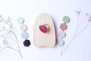 334伝統文化品美濃焼多治見丸タイル指輪・リング(フリーサイズ)