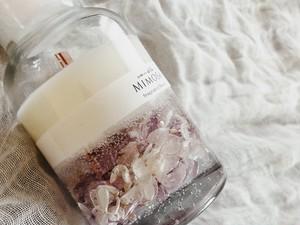 ○香りが選べる○ハーバリウムキャンドル.。*゚Big/purple/candlemimosa