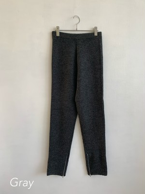 EARIH ZIP UP KNIT PANTS