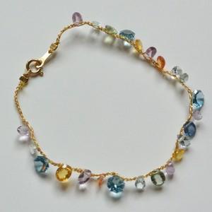 本金糸ブレスレット Londonblue sapphire