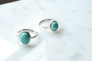 turquoise stone silver 925 ring