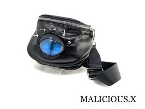 cat eye big  body bag / blue
