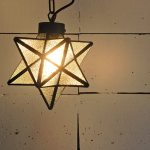 TOPANGA 70's STAR LAMP Small Star Glass Pendant Lamp デザインガラス