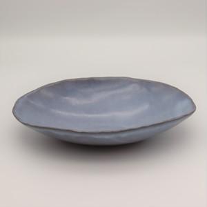 藁灰釉楕円鉢