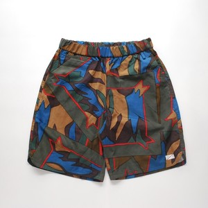 Short pants every day UBUD / HAND DYE BATIK GREEN CAMO