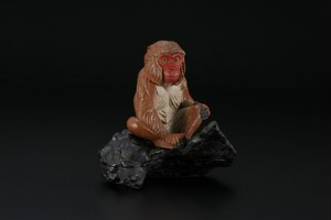 乾漆 立体香合 「猿」 上杉學帥 作