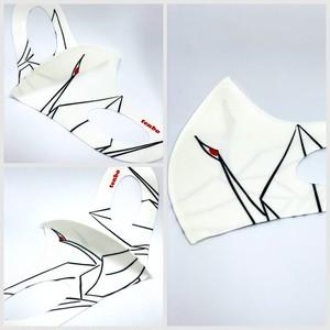 高品質冷感マスク 平和の折り鶴(白) 男女兼用