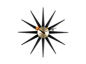 【Vitra Design Museum】Sunburst Clock 【Black】