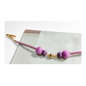 マグネットの羽織紐(ショール留め) -藤×濃紫-