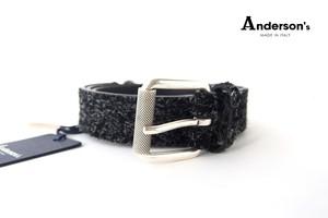 アンダーソンズ|Anderson's|ロングヘアスエードベルト|90|ブラック