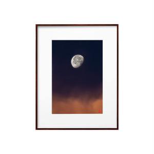 コピー:朝焼けの月(ホワイトボード)A4サイズ