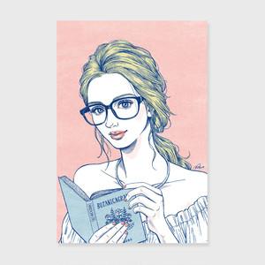 ポストカード / Book and Glasses