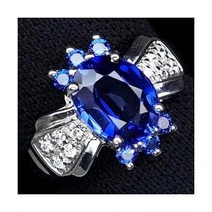 豪華な2.6ct! サファイア リング 指輪 13号 アフリカ産 綺麗に輝くカシミール・ブルー!
