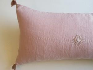 linen刺繍cushioncoverP横長