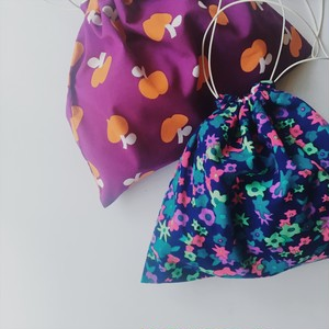 Drawstring Bag Vintage Fabric