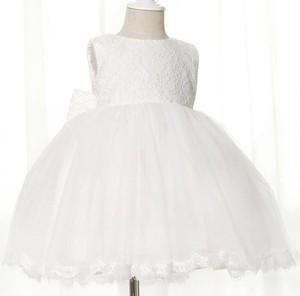 8498子供用キッズ ジュニア 女の子ドレス 発表会 結婚式七五三 フォーマル パーティー ワンピース ホワイト白色