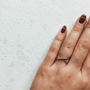 cross ring (2 colors )