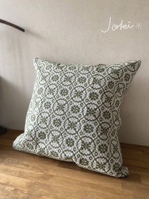 cushion cover[手織りクッションカバー] グリーン