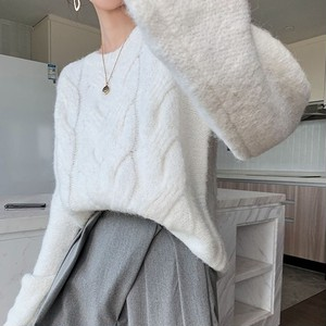 Round Neck Cable Knit T588