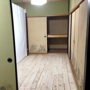3.5畳個室B (少し雨が降る部屋)- 1ヶ月利用 -