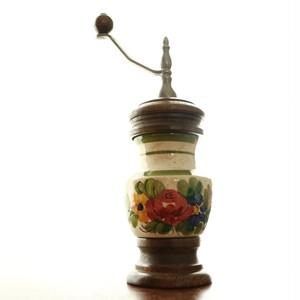 ドイツ ヴィンテージ コーヒーミル 陶器製 ブロカント 花柄模様