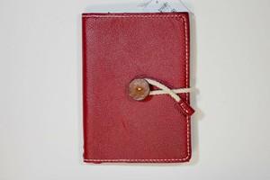 本革 ブックカバー文庫本A6サイズ(赤型押し+糸生成り)