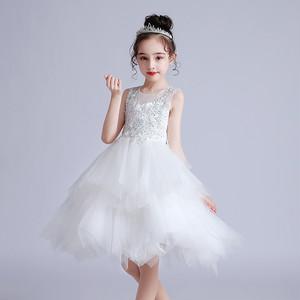 8378キッズドレス 子供ドレス ジュニア 女の子ドレス ミニ丈ワンピース ノースリープ100-160cm