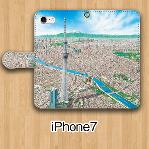 【受注生産】パノラマ「浅草」iPhone7用 手帳型ケース
