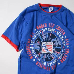 【Lサイズ】 WORLD CUP TEE 94ワールドカップ 半袖Tシャツ BLUE LARGE 400601190806