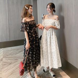 【dress】清新スウィート花柄プリント着痩せワンピース