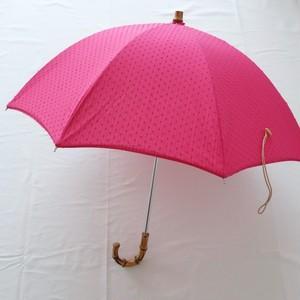 日傘 ピンクドット&ピンクストライプ