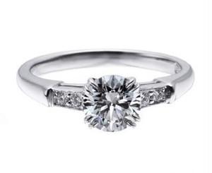 モアサナイト ダイヤモンド 2カラット プラチナ リング 指輪