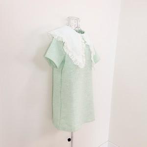big collar short dress