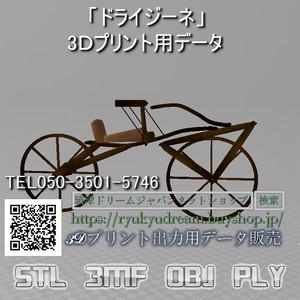 「ドライジーネ」3Dプリント用データ