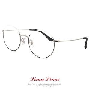 メガネ アンダーリム ラウンド型 2364-2 レディース メンズ ユニセックス モデル 眼鏡 丸メガネ 丸眼鏡 コンビネーションフレーム