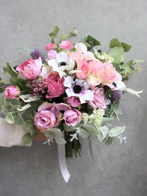 【Rental】No6 pink anemone bouquet