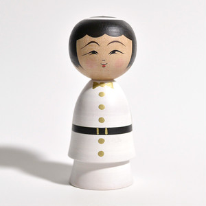 天使こけし(女の子) 約3.5寸 約10.5cm 平賀輝幸 工人(作並系)#0057