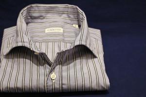 CADETTO ORIGINALS SHIRTS Saxe Blue×White Stripe