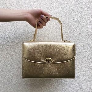 VINTAGE metallic gold box bag