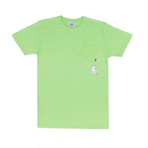 RIPNDIP - Hang In There Pocket Tee (Lime)